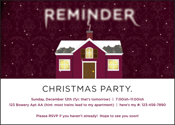 Party Reminder Examples Pictures To Pin On Pinterest